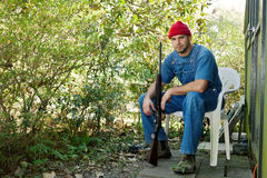 Country Man with a Shotgun Royalty Free Stock Image