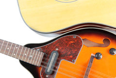 Country mandolin and guitar Stock Images