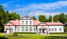 Country manor house of the 18th century. State Historical, Artistic and Literar Stock Photos