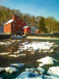 Country Mill. The red mill in Clinton New Jersey one of the more recognizable landmarks in the state Stock Image