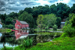 Country mill. The red mill in Clinton NJ Royalty Free Stock Images
