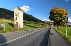 Country motorway. Country cabin substation. Obermillstatt, Austria Stock Photos