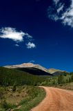 Country mountain road in Colorado Stock Photo