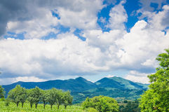 Country mountains clouds Stock Photography