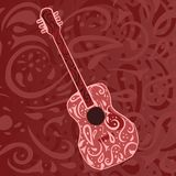 Country music background - guitar. Background evocative of country music featuring an acoustic guitar Royalty Free Stock Photography