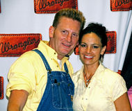 Country Music duo Joey and Rory. NASHVILLE, TN - JUNE 12: Country music duo Joey and Rory pose for photos at their booth inside the 2009 CMA Music Festival June Royalty Free Stock Photo
