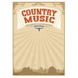 Country music festival background with american landscape. Country music festival background with landscape.Poster  on white Royalty Free Stock Image