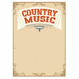 Country music festival background for text. Poster isolated on white Royalty Free Stock Images