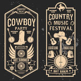 Country music festival flyer. Design element in vector Stock Photography