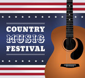 Country music festival square vector illustration