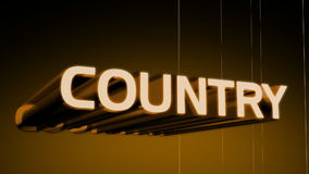 Country Music Genre Header stock video