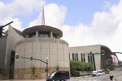 The Country Music Hall of Fame in Nashville Tennessee USA shaped like a flying Piano Keyboard stock photos