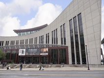 The Country Music Hall of Fame in Nashville Tennessee USA shaped like a flying Piano Keyboard Royalty Free Stock Images