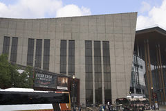 The Country Music Hall of Fame in Nashville Tennessee USA shaped like a flying Piano Keyboard. The Country Music Hall of Fame and Museum is another major Stock Photography