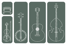 Country Music Instruments Royalty Free Stock Photography