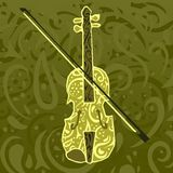 Country music pattern - fiddle. Background evocative of country music featuring a fiddle Stock Images
