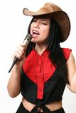Country Music Singer. A woman singing country and western music stock image