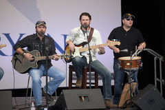 Country musicians perform for Governor Mitt Romney Stock Image