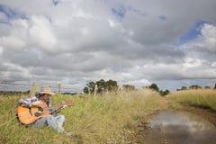 Country muziek in Landelijk Landschap Stock Fotografie