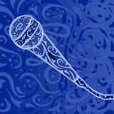 Country muziek - microfoon Stock Foto