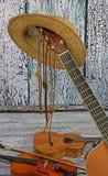 Country muziekinstrumenten royalty-vrije stock afbeeldingen