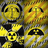 Country nuclear shield four abstract backgrounds with gru. Nge elements stock illustration