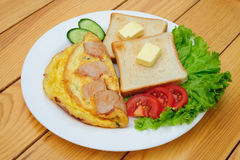 Country omelette Royalty Free Stock Photography