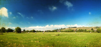 Country panoramic landscape Royalty Free Stock Photography