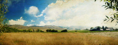Country panoramic landscape Stock Photos