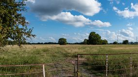 Country pasture banner royalty free stock photography