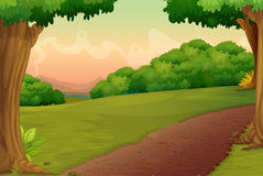 Country path. Illustration of a path in a rural setting Royalty Free Stock Images