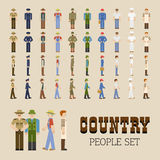Country People Set Royalty Free Stock Photography