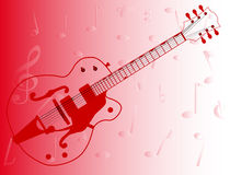 Country Pickers Guitar Outline Stock Image