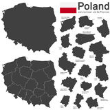 country Poland and voivodeships Stock Photo
