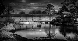 Country pond. A country pond in England Royalty Free Stock Images