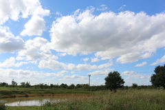 Country Pond. Landscape of a pond in the country. Taken in the East Midlands countryside Stock Image