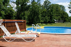 Country Pool And Deck Royalty Free Stock Photos