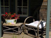 Country Porch. In midday Royalty Free Stock Photography