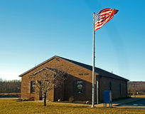 Post office. Country post office with flag Stock Images