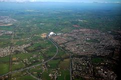 Country from prague. View at country from plane, horizontally framed shot stock images