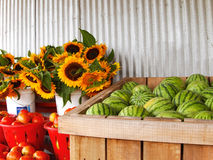 Country Produce Stand Stock Image