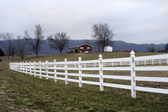 Country Property. In the Valley of the Great Smoky Mountains sit many homes, farm, properties like this in which they farm and contiue family tradition Royalty Free Stock Photo