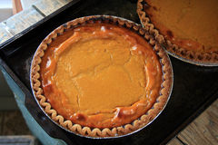 Country Pumpkin Pie... Tasty, fresh baked pumkin pies Royalty Free Stock Photography