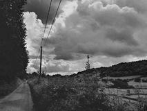 In the country. Quiet country lane Royalty Free Stock Image