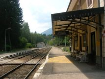 Country Railway Station Royalty Free Stock Photo