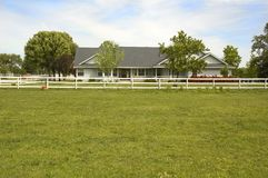 Country ranch style home Stock Photos