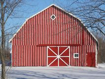 Country Red Barn Royalty Free Stock Images
