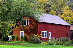 Country red barn Royalty Free Stock Image
