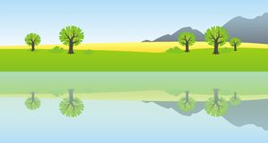 Country reflection Stock Photography