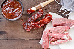 Country Ribs and Barbecue Sauce Stock Images